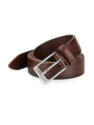 John Varvatos Italian Leather Belt Chocolate