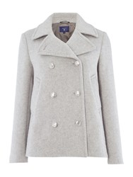 Gant Bonded Wool Pea Coat Grey