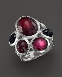 Ippolita Sterling Silver Wonderland 5 Stone Ring In Harlow Red