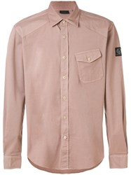 Belstaff Long Sleeved Shirt Pink And Purple