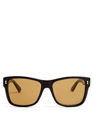 Gucci Rectangular Frame Acetate Sunglasses Black