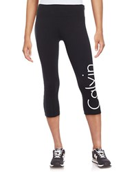 Calvin Klein Cropped Logo Leggings White