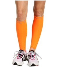 Zensah Compression Leg Sleeves Neon Orange Athletic Sports Equipment
