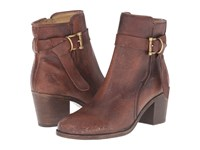 Frye Malorie Knotted Short Redwood Polished Stonewash Cowboy Boots Brown
