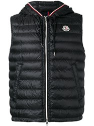 Moncler Hooded Gilet Men Feather Down Polyester 4 Black