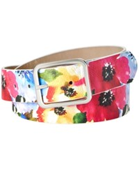 Inc International Concepts I.N.C. Floral Print Belt Created For Macy's Multi