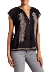 Joie Lomax Embroidered Peasant Shirt Multi