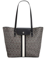 Giani Bernini Graphic Signature Tote Only At Macy's Black Multi