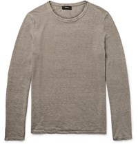 Theory Filiep Linen Blend Sweater Neutrals
