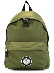 Versus Logo Plaque Medium Backpack Green