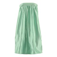 Mcma London Strapless Mint Midi Dress Green