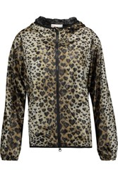 Red Valentino Redvalentino Leopard Print Shell Hooded Jacket Leopard Print