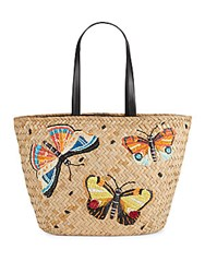 Franchi Textured Cotton Blend Tote Natural