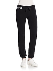 Wildfox Couture Classic Logo Lounge Pants Jet Black