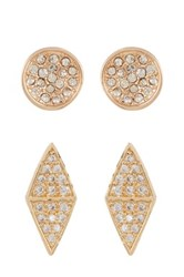 Melinda Maria Hunter Pave Cz Stud Earrings Set White