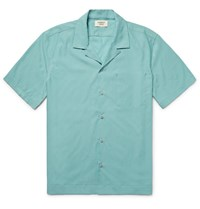 Everest Isles Camp Collar Voile Shirt Turquoise