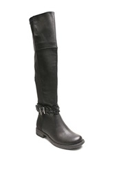 Two Lips Too Just Over The Knee Boot Black