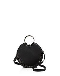 Street Level Whipstitch Circle Crossbody Black Gunmetal