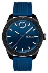 Movado Men's Bold Sport Silicone Strap Watch 43Mm