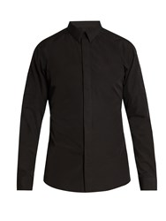 Givenchy Contemporary Fit Single Cuff Cotton Shirt Black