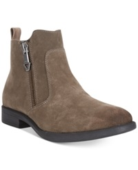 Guess Paulie Suede Slip On Boots Men's Shoes Taupe