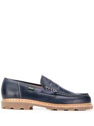 Paraboot Stitch Detail Loafers Blue
