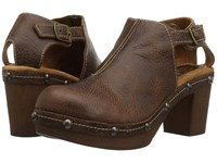 Sbicca Raza Brown Clog Mule Shoes