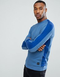 Only And Sons Sweatshirt With Cut Sew Detailing Federal Blue