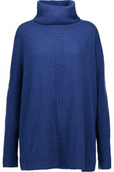 Magaschoni Cashmere Turtleneck Sweater Royal Blue