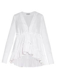 Balenciaga Long Sleeved Ruffled Blouse