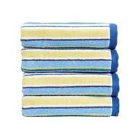 Christy Portobello Stripe Towel Blue Bath Sheet