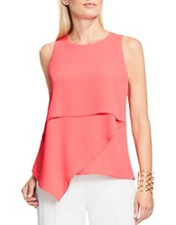 Vince Camuto Asymmetrical Layered Blouse Coral