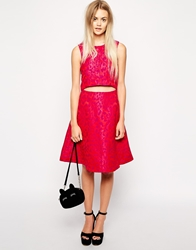 Sister Jane Midi Skirt In Pink Animal Print
