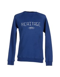People Topwear Sweatshirts Men Blue