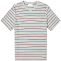 Save Khaki Vintage Stripe Crew Tee Blue