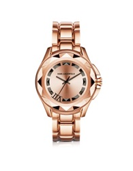 Karl Lagerfeld Iconic Rose Glod Stainlees Steel Unisex Watch Pink