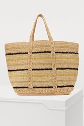 Vanessa Bruno Large Raffia Shopping Bag