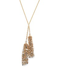 Carol Dauplaise Sequin Double Tassel Necklace Gold
