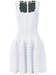 Alaia Sleeveless A Line Dress White