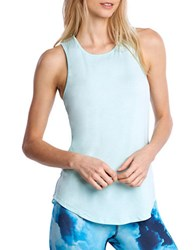 Danskin Scoopneck Sleeveless Tank Top Blue Bell