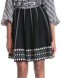Plenty By Tracy Reese Printed A Line Skirt Domino