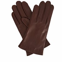 Gizelle Renee Emily Everyday Dark Brown Leather Gloves