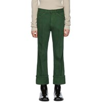 Christophe Lemaire Green Bootcut Jeans