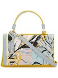 Emilio Pucci Printed Small Satchel Yellow