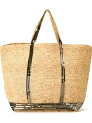 Vanessa Bruno Sequin Trim Shopping Tote Nude And Neutrals
