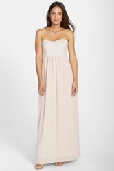 Paper Crown By Lauren Conrad 'Breanna' Lace Bodice Crepe Gown Pink