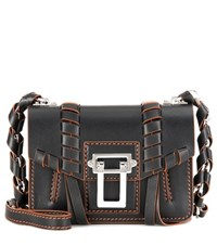 Proenza Schouler Hava Chain Leather Shoulder Bag Black