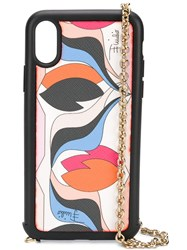 Emilio Pucci Iphone X Chain Strap Printed Case 60