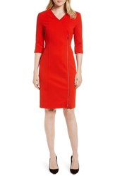 Boss Deazema Sheath Dress Sunset Orange