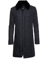 Yves Salomon Beaver Fur Lined Mac Black